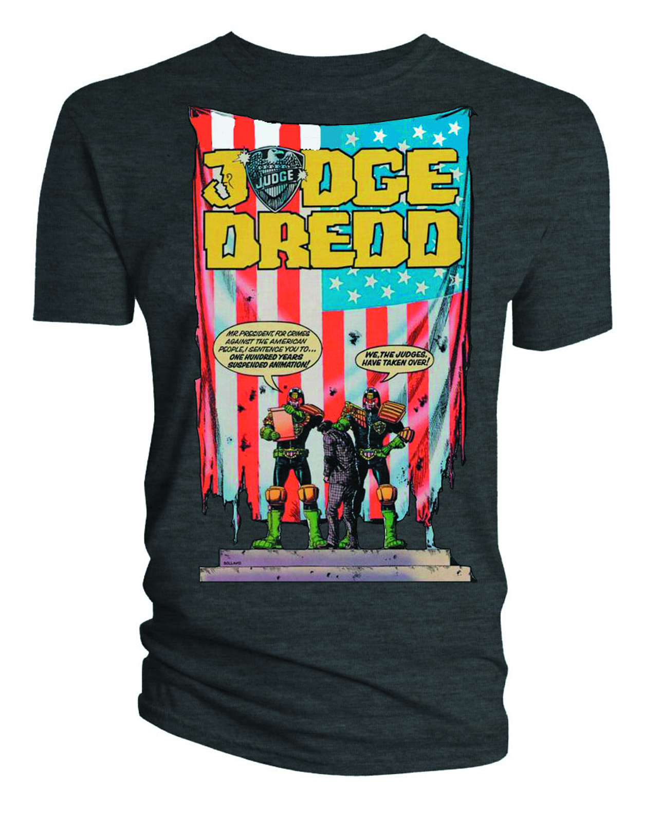 JUDGE DREDD US FLAG T/S LG