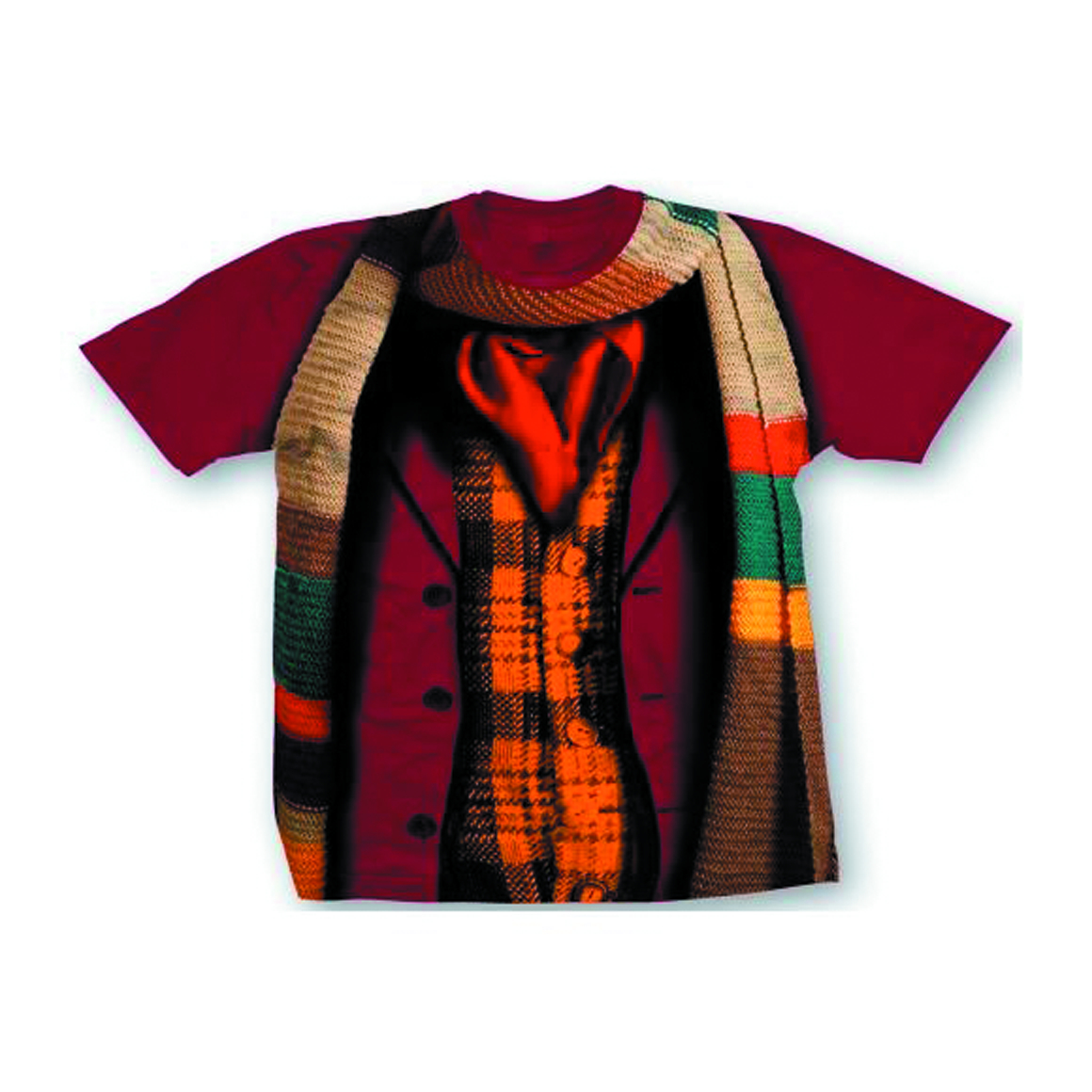 DOCTOR WHO FOURTH DOCTOR COSTUME T/S LG