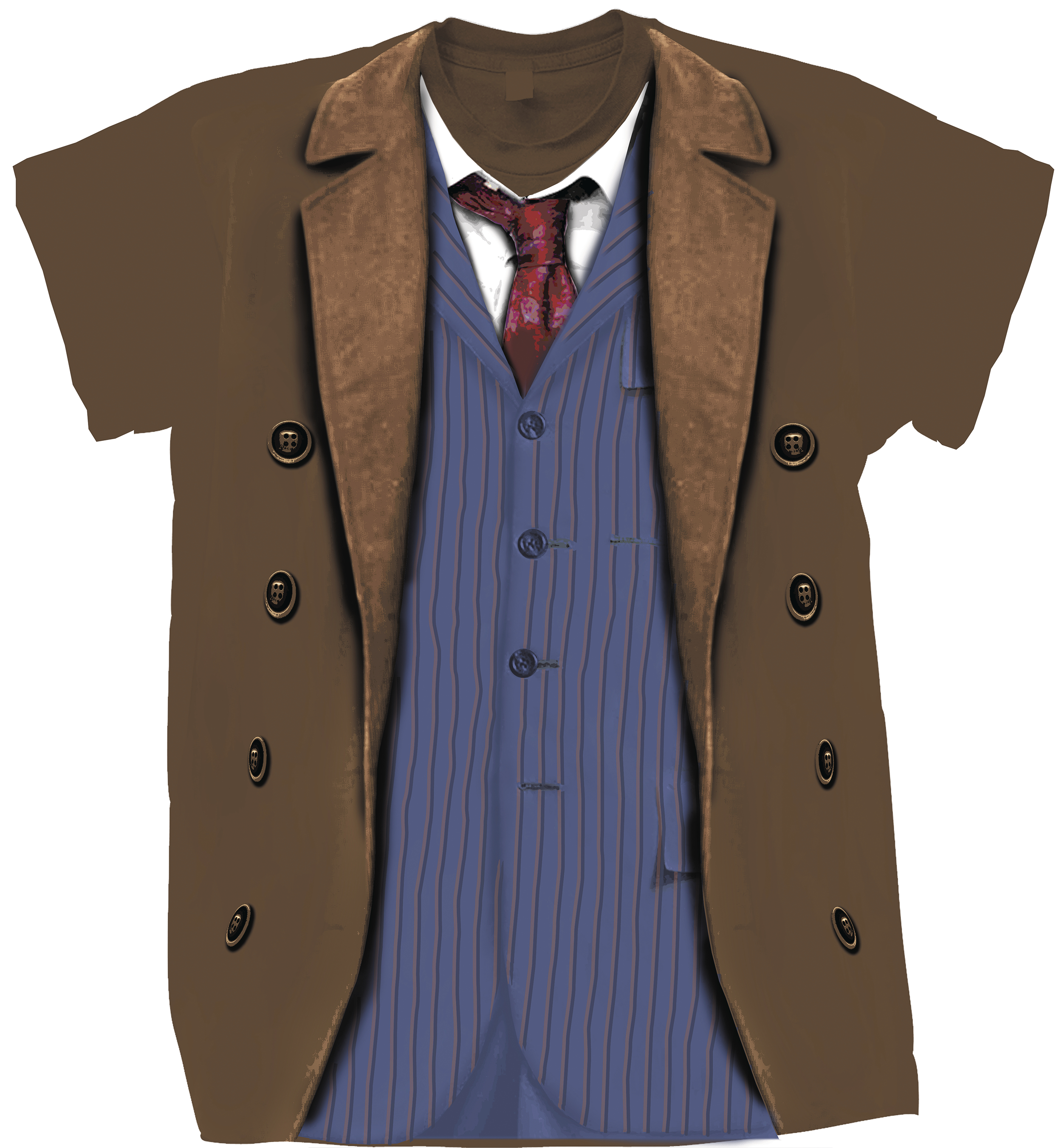 DOCTOR WHO TENTH DOCTOR COSTUME T/S LG