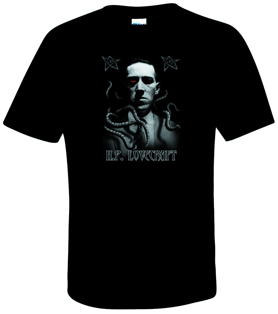 LOVECRAFT PORTRAIT BLK T/S XL