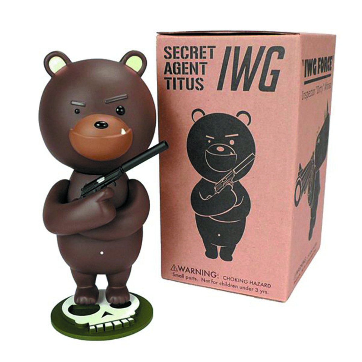 IWG SECRET AGENT TITUS 7IN VINYL FIG