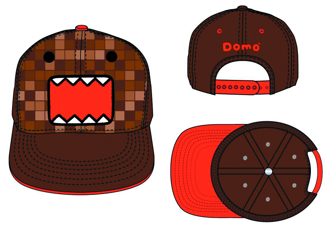 DOMO PIXILATED FLAT BRIM SNAP BACK CAP