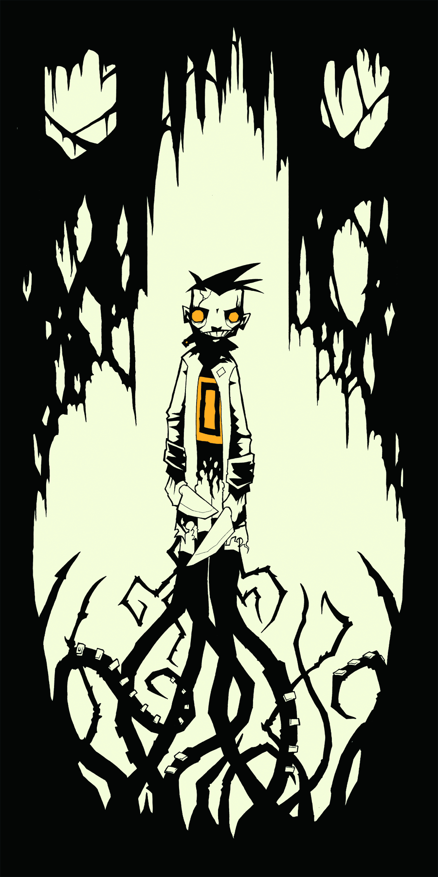 JS NOT J JOHNNY HOMICIDAL MANIAC T/S LG