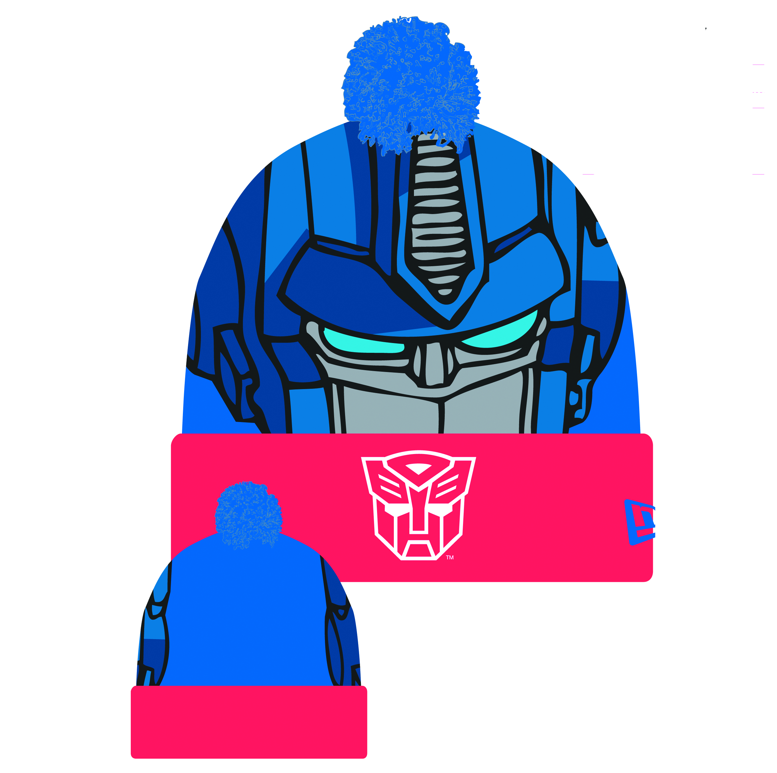 TRANSFORMERS OPTIMUS WOVEN BIGGIE KNIT CAP