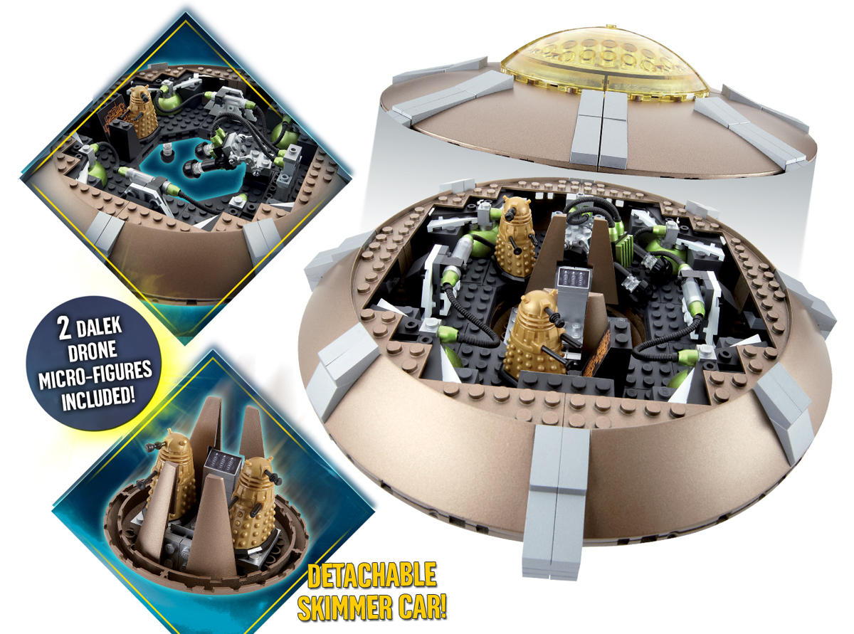 DOCTOR WHO CHAR BUILDING DALEK SPACESHIP SET