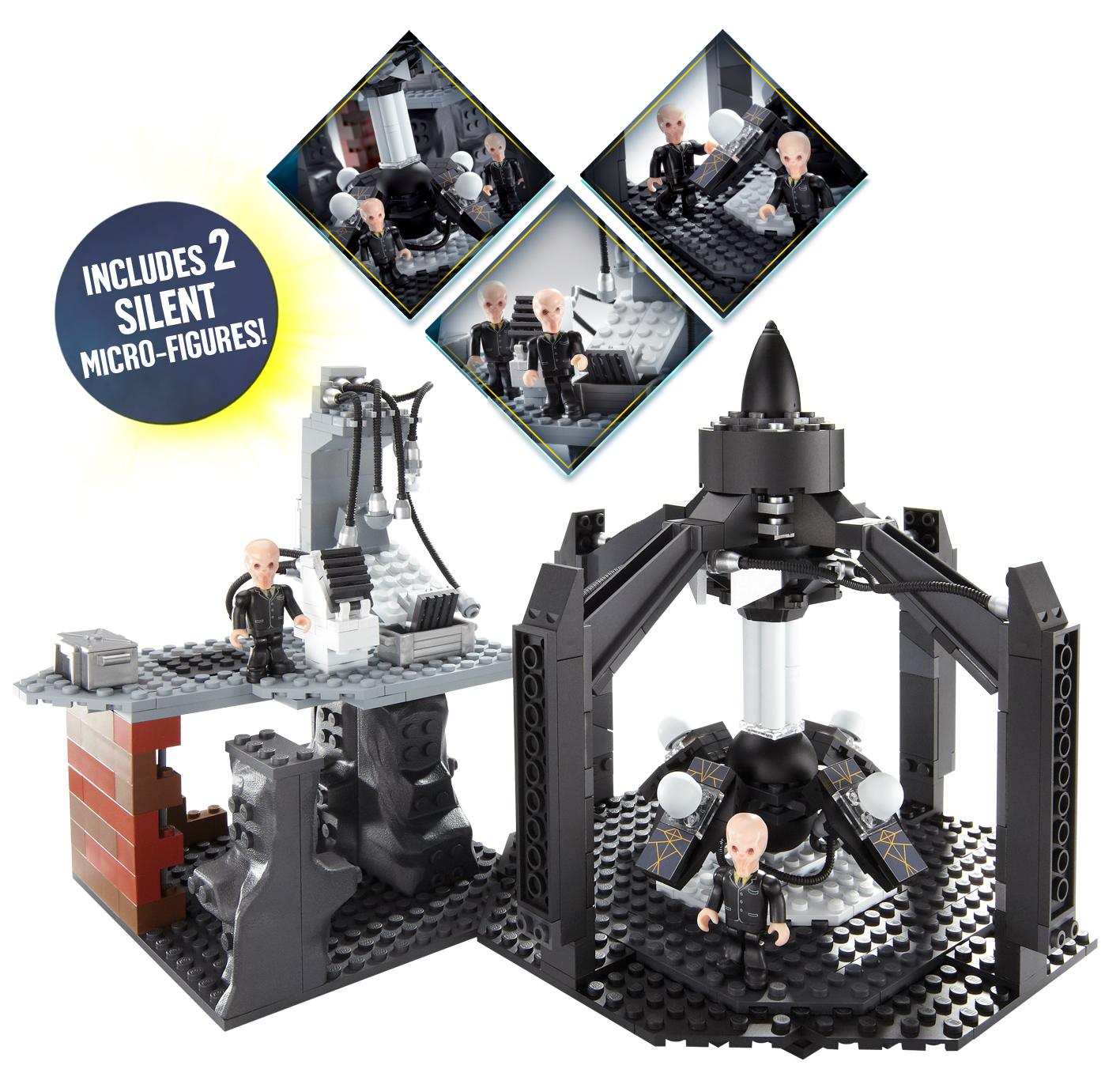 DOCTOR WHO CHAR BUILDING SILENT TIME MACHINE SET