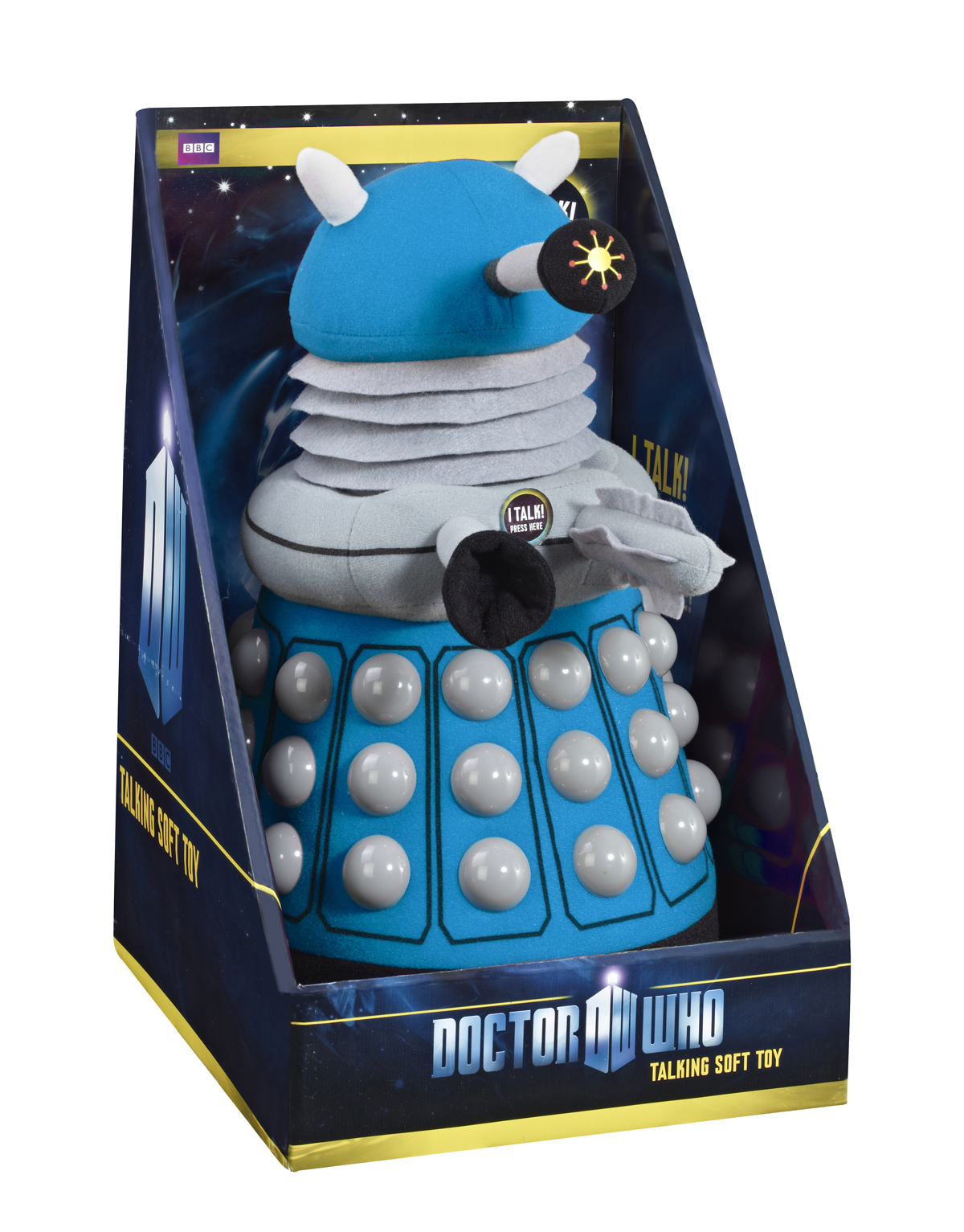 DOCTOR WHO BLUE DALEK 15IN DLX PLUSH W/SOUND