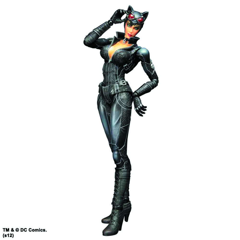 BATMAN ARKHAM CITY PLAY ARTS KAI CATWOMAN AF