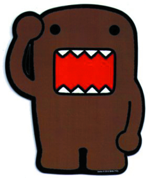DOMO BROWN SALUTE CAR MAGNET
