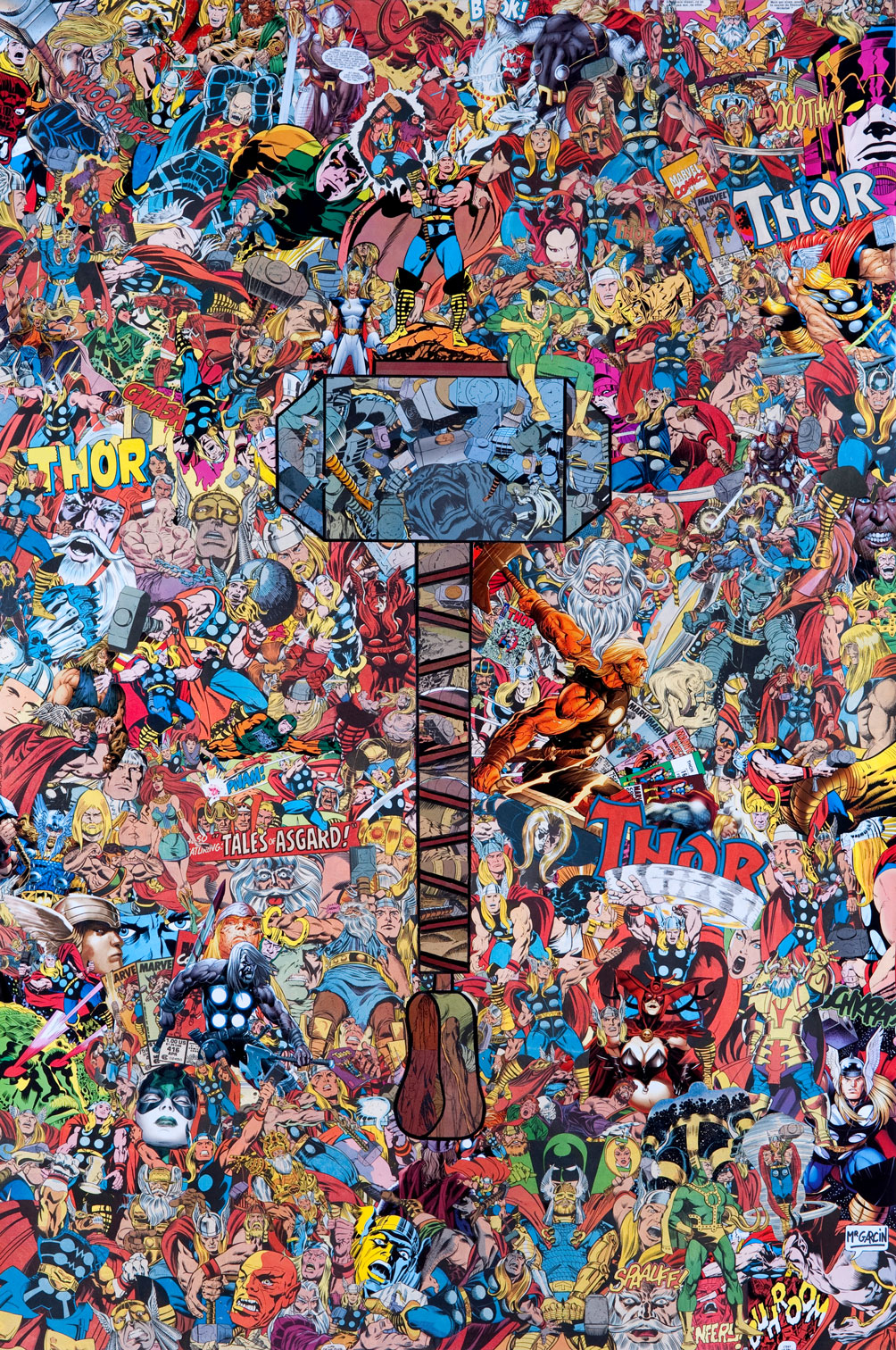 MIGHTY THOR #22 COLLAGE VAR