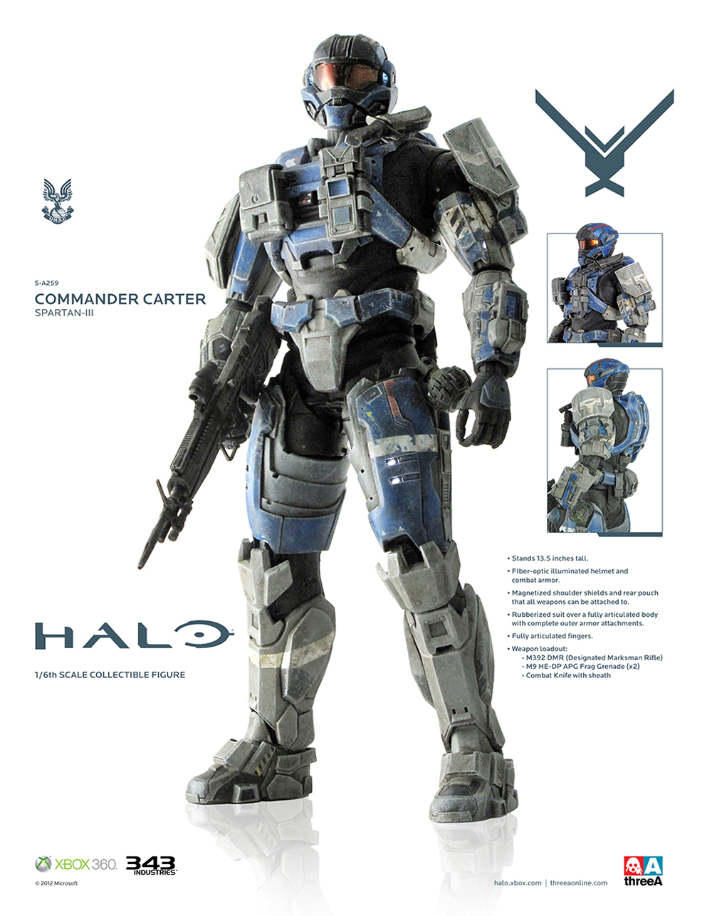 HALO COMMANDER CARTER 1/6 SCALE FIG