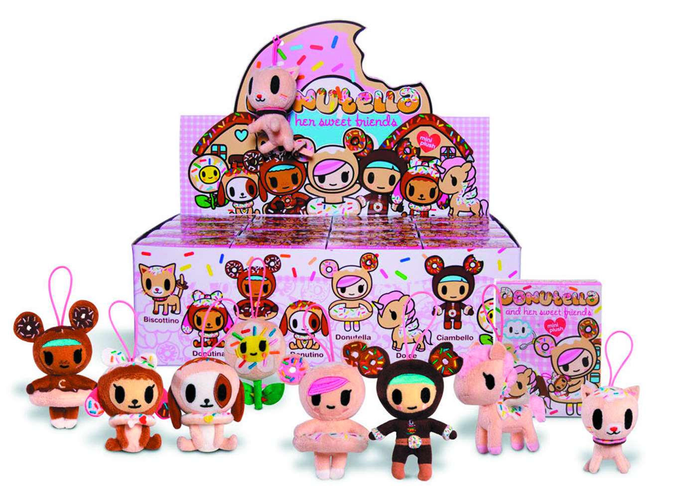 TOKIDOKI DONUTELLA MINI PLUSH 16PC BMB DS
