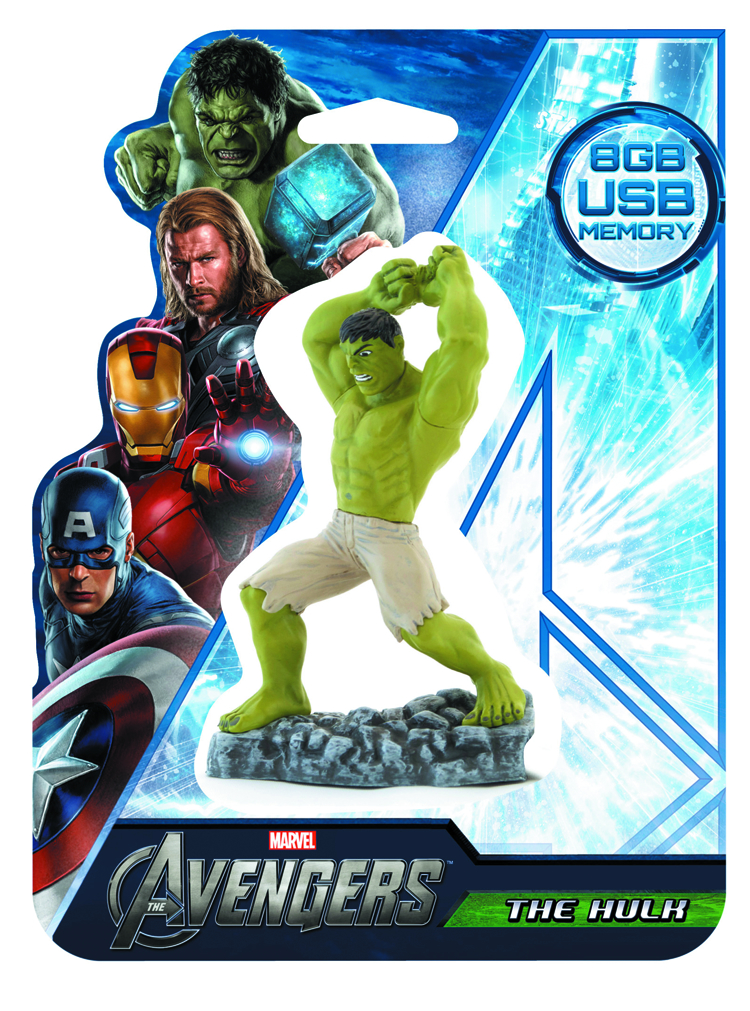AVENGERS HULK 8GB FIGURAL FLASH DRIVE