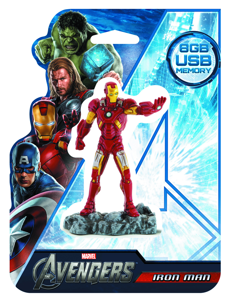 AVENGERS IRON MAN 8GB FIGURAL FLASH DRIVE
