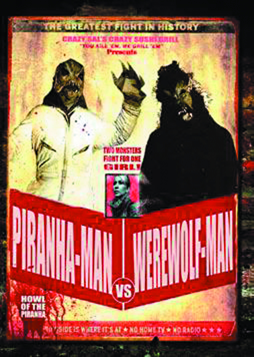 PIRANHA-MAN VS WEREWOLF-MAN DVD