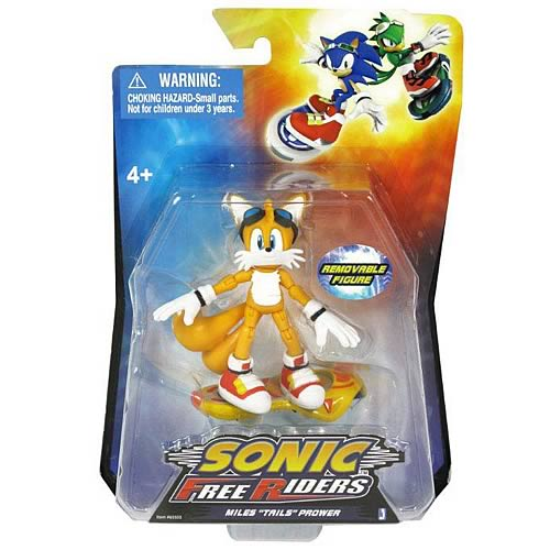 SONIC FREE RIDERS TAILS 3-IN AF