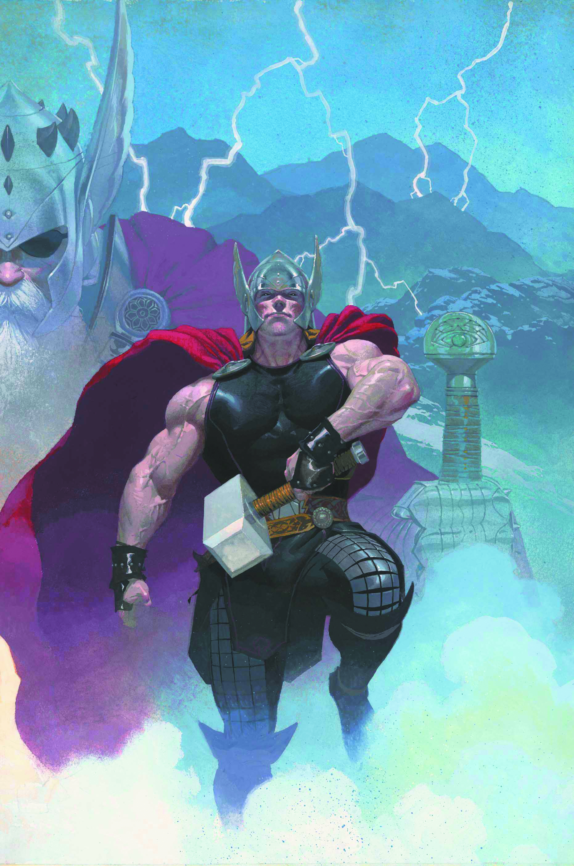 THOR GOD OF THUNDER BY RIBIC POSTER NOW