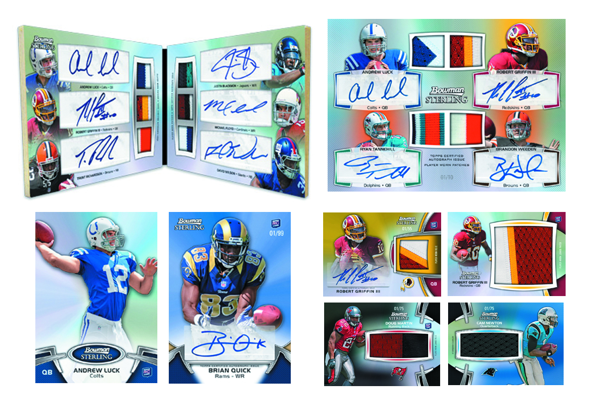 BOWMAN 2012 STERLING FOOTBALL T/C BOX