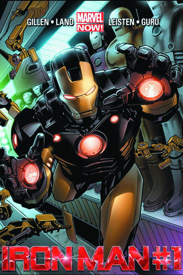 DF IRON MAN #1 MARQUEE LEE SGN ED
