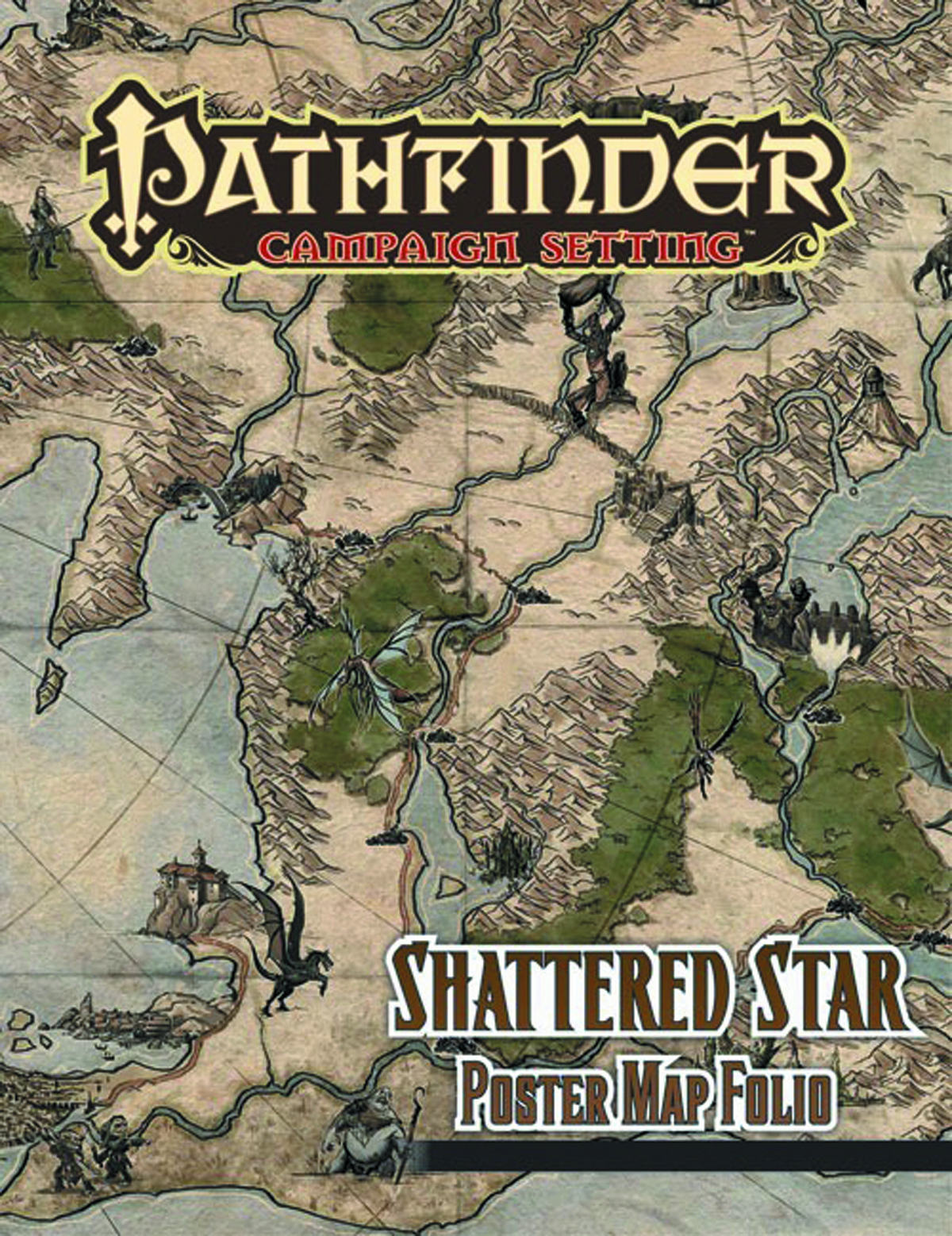 PATHFINDER CAMPAIGN SETTING SHATTERED STAR POSTER MAP FOLIO