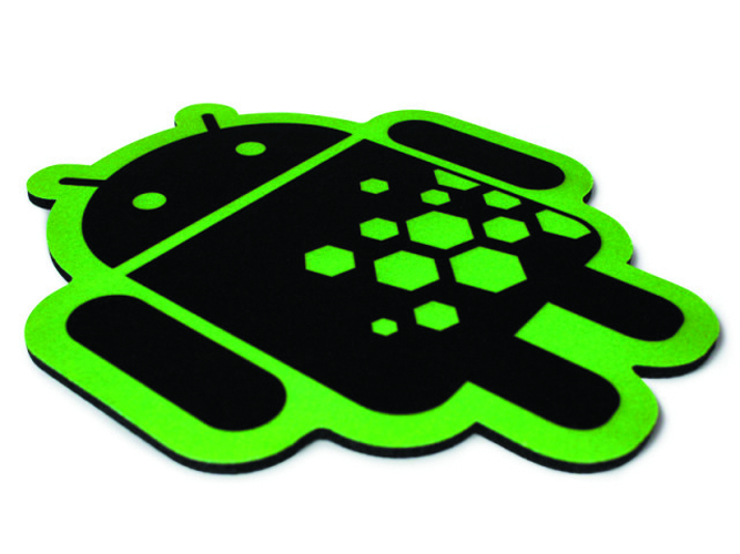 ANDROID FOUNDRY MOUSE PAD GREEN ON BLACK