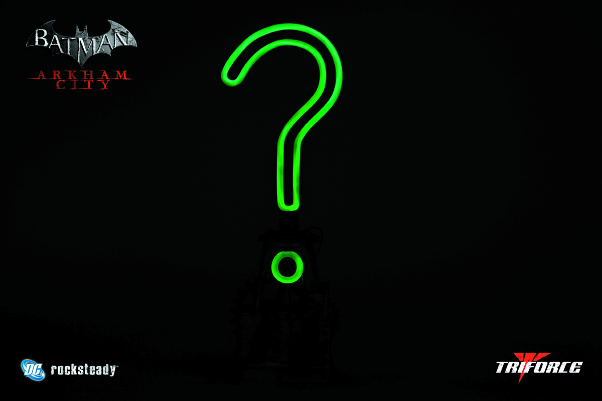 BATMAN ARKHAM CITY RIDDLER TROPHY 1/1 REPLICA