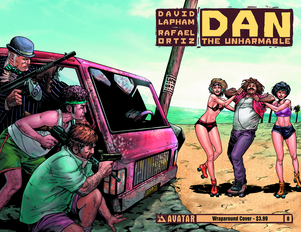 DAN THE UNHARMABLE #8 WRAP CVR