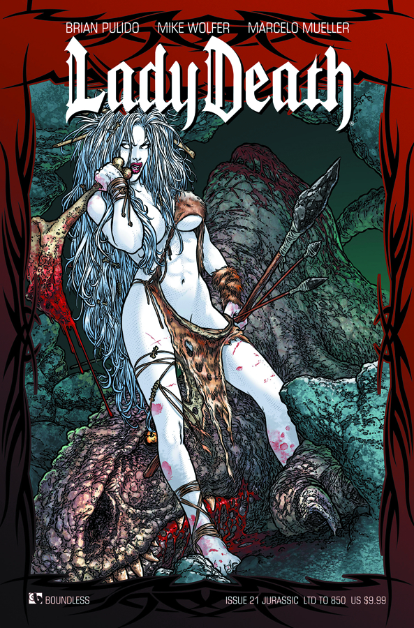 LADY DEATH (ONGOING) #21 JURASSIC CVR