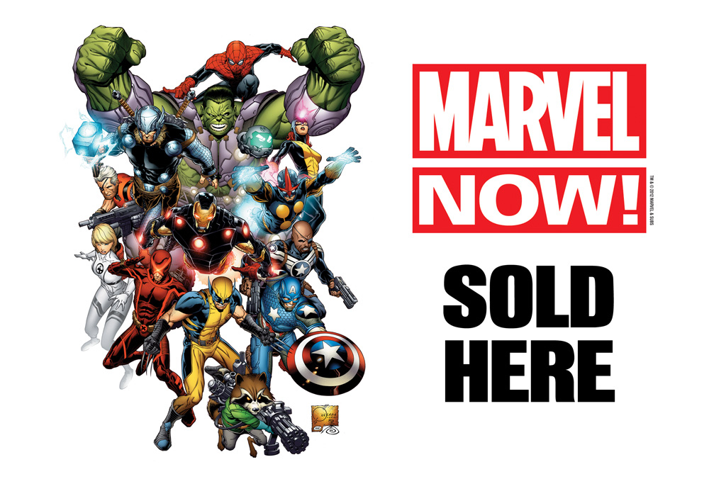 MARVEL NOW WINDOW CLINGS