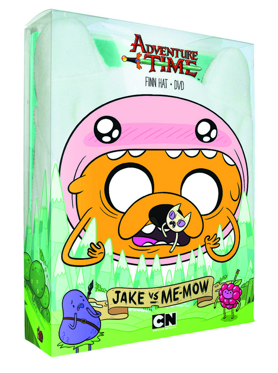 ADVENTURE TIME JAKE VS ME-MOW DVD + HAT