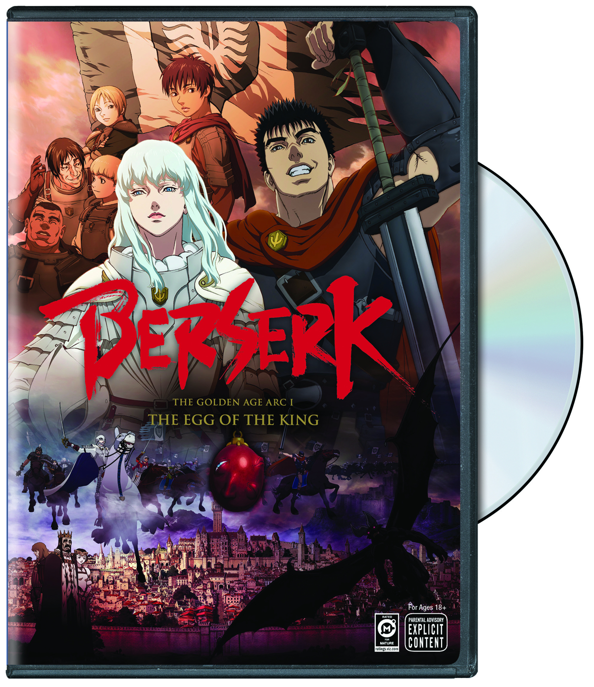 BERSERK THE GOLDEN AGE DVD ARC I