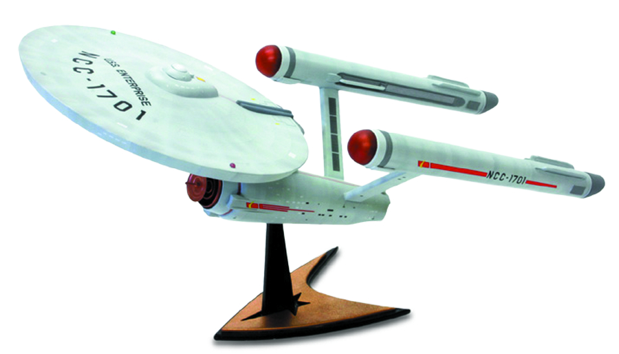 STAR TREK TOS 1/1000 ENTERPRISE MODEL W/LUNCHBOX
