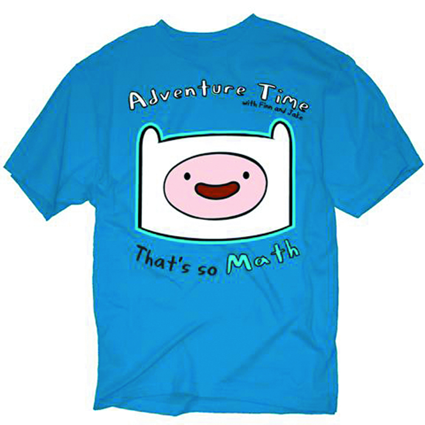 ADVENTURE TIME FINN SO MATH PX BLUE T/S XL