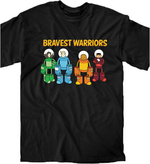BRAVEST WARRIORS ROLL CALL PX T/S XL