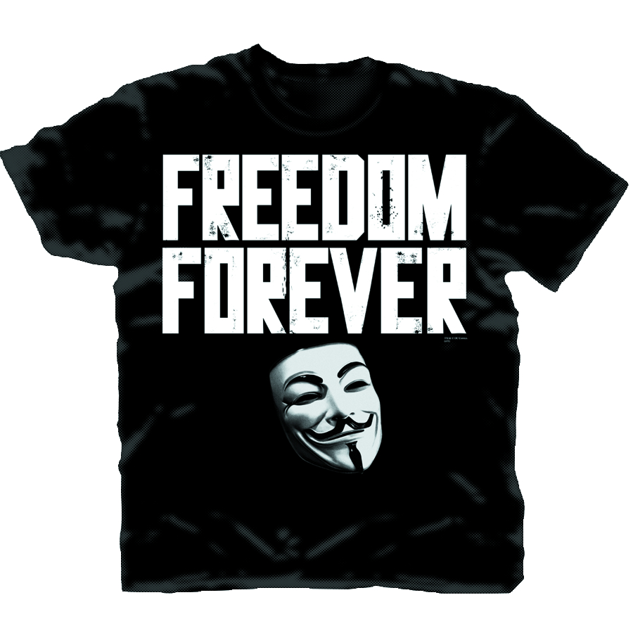 V FOR VENDETTA FREEDOM FOREVER PX T/S LG