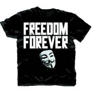 V FOR VENDETTA FREEDOM FOREVER PX T/S XXL