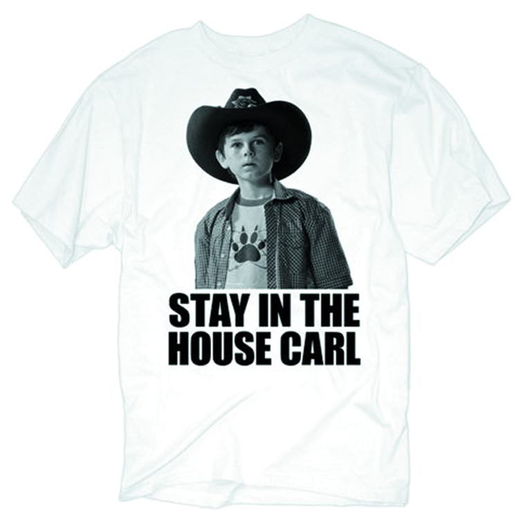 WALKING DEAD STAY IN THE HOUSE CARL WHT T/S MED
