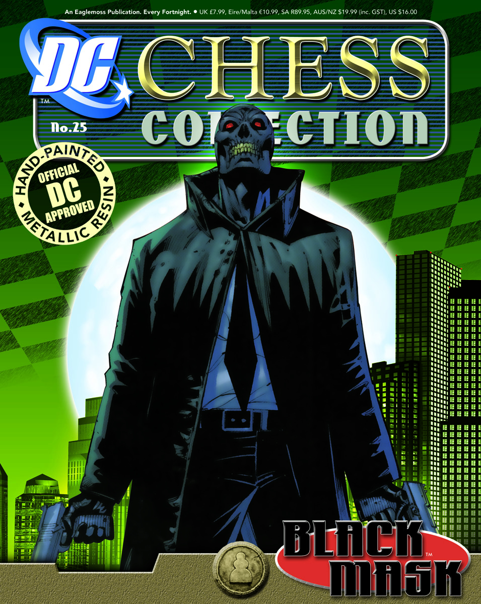 DC SUPERHERO CHESS FIG COLL MAG #25 BLACK MASK BLACK PAWN