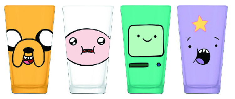 ADVENTURE TIME FACE PINT 4PK SET