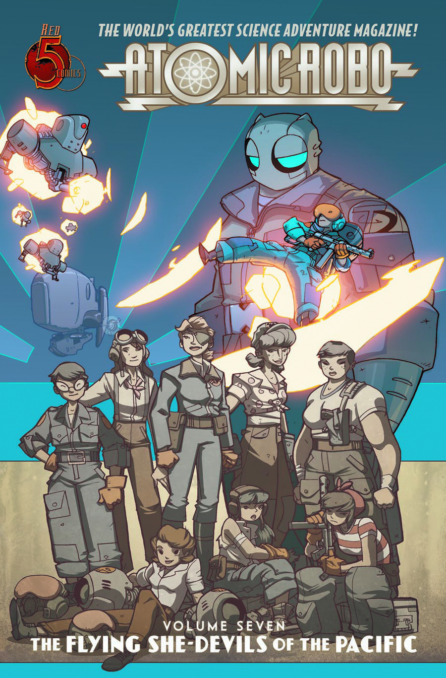 ATOMIC ROBO TP VOL 07 FLYING SHE DEVILS PACIFIC
