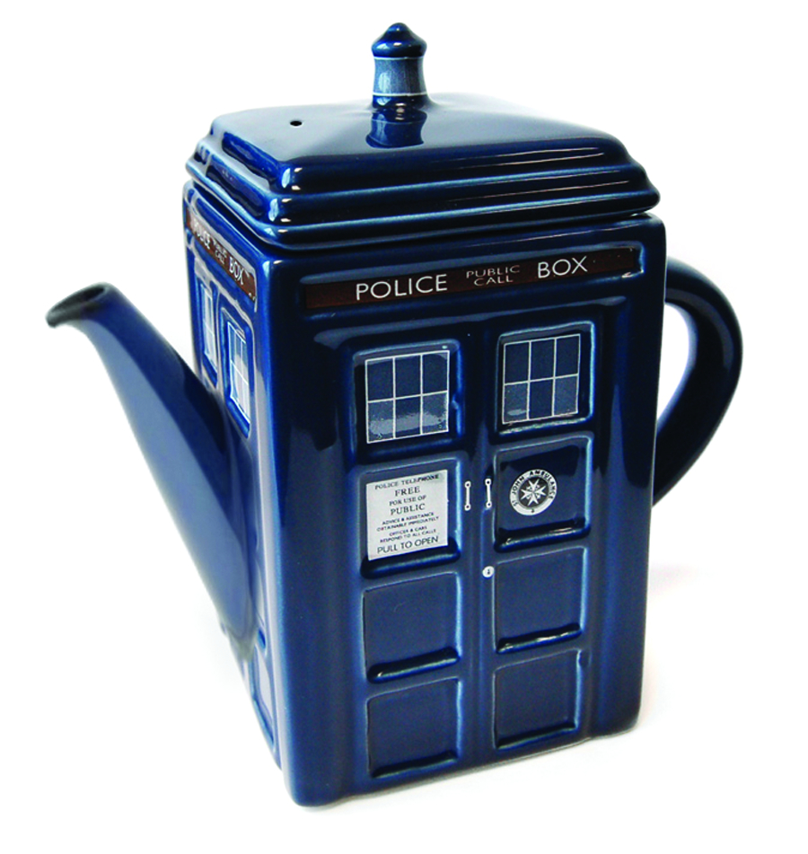 DOCTOR WHO TARDIS 3D CERAMIC TEAPOT