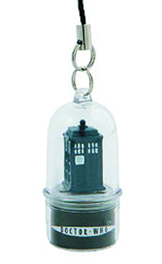 DOCTOR WHO ROTATING TARDIS LED CELL PHONE CHARM