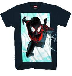 ULTIMATE REACH SPIDER-MEN PX BLK T/S LG