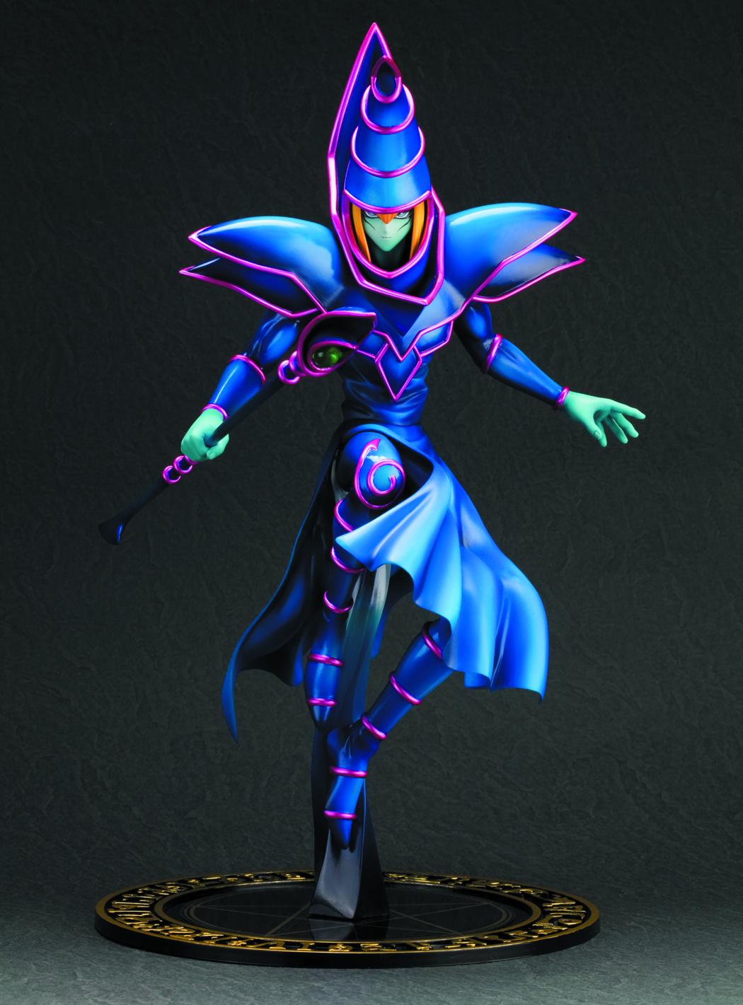 oct121711 yu gi oh dark magician artfx j statue previews world