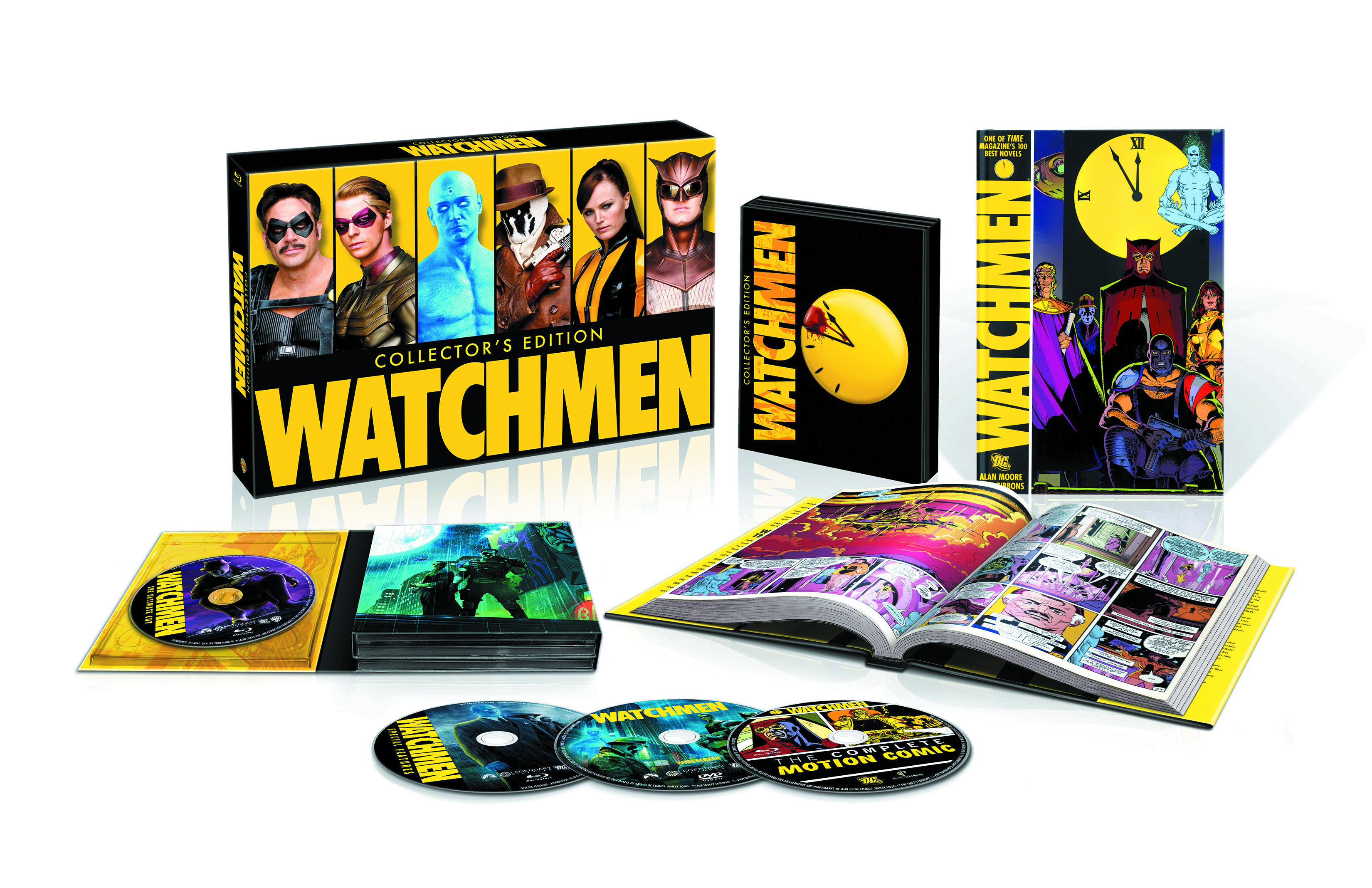 WATCHMEN ULTIMATE CUT BD + DVD + GRAPHIC NOVEL