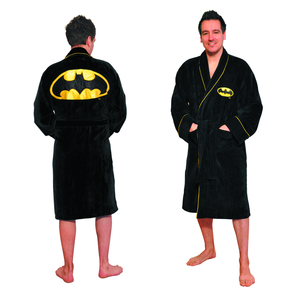 BATMAN SYMBOL FLEECE BATHROBE