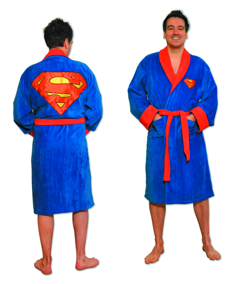 SUPERMAN SYMBOL FLEECE BATHROBE