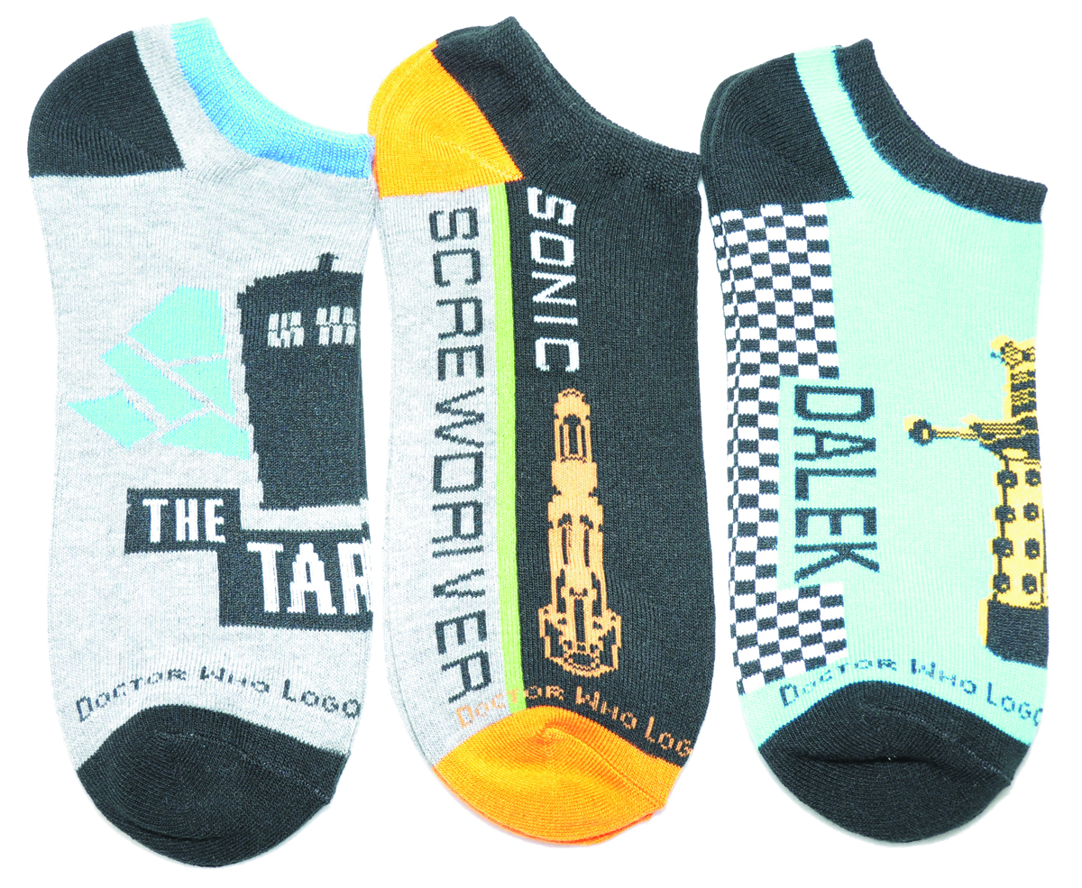 DOCTOR WHO LOW CUT SOCKS 3PK SET 1