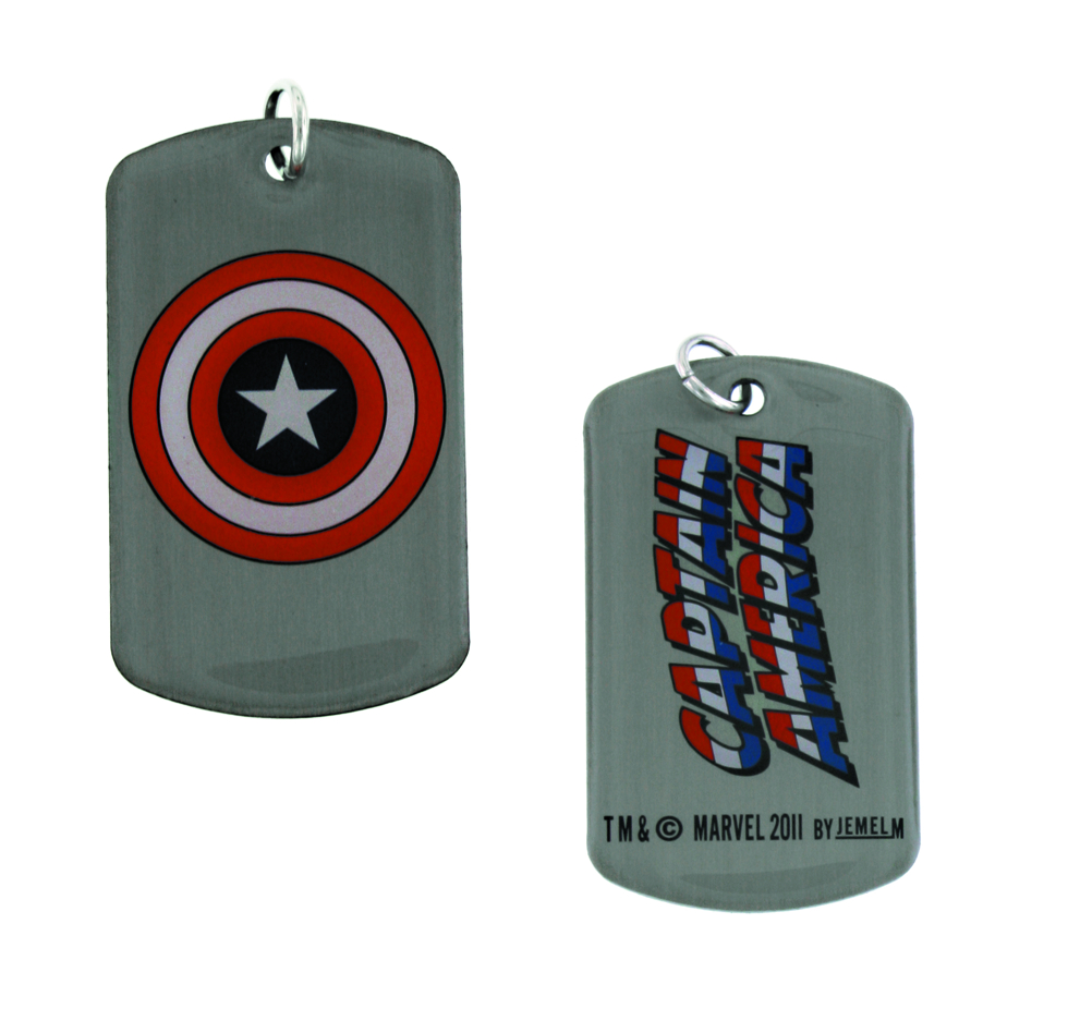 CAPTAIN AMERICA SHIELD DOG TAG