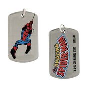 SPIDER-MAN SWINGING DOUBLE SIDED DOG TAG